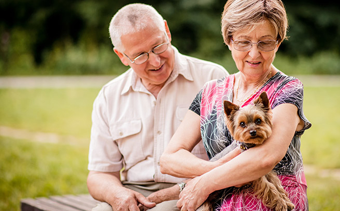 Senior Couple Assisted Living